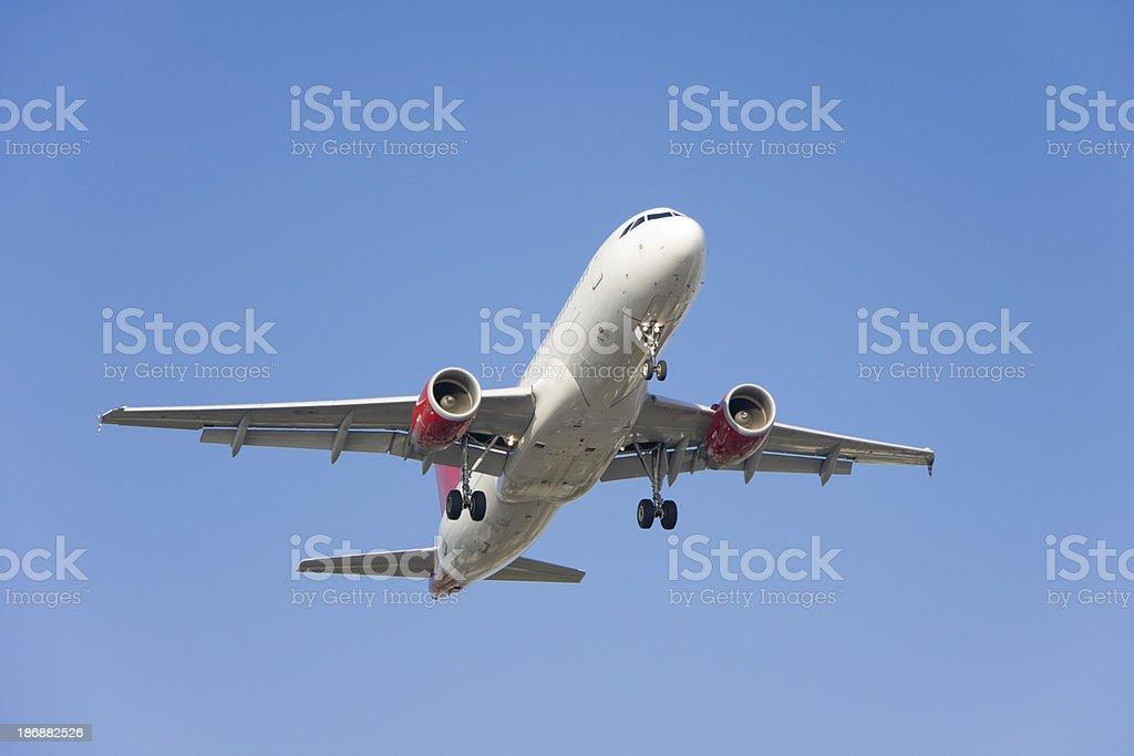 Passenger Jet Landing stock photo