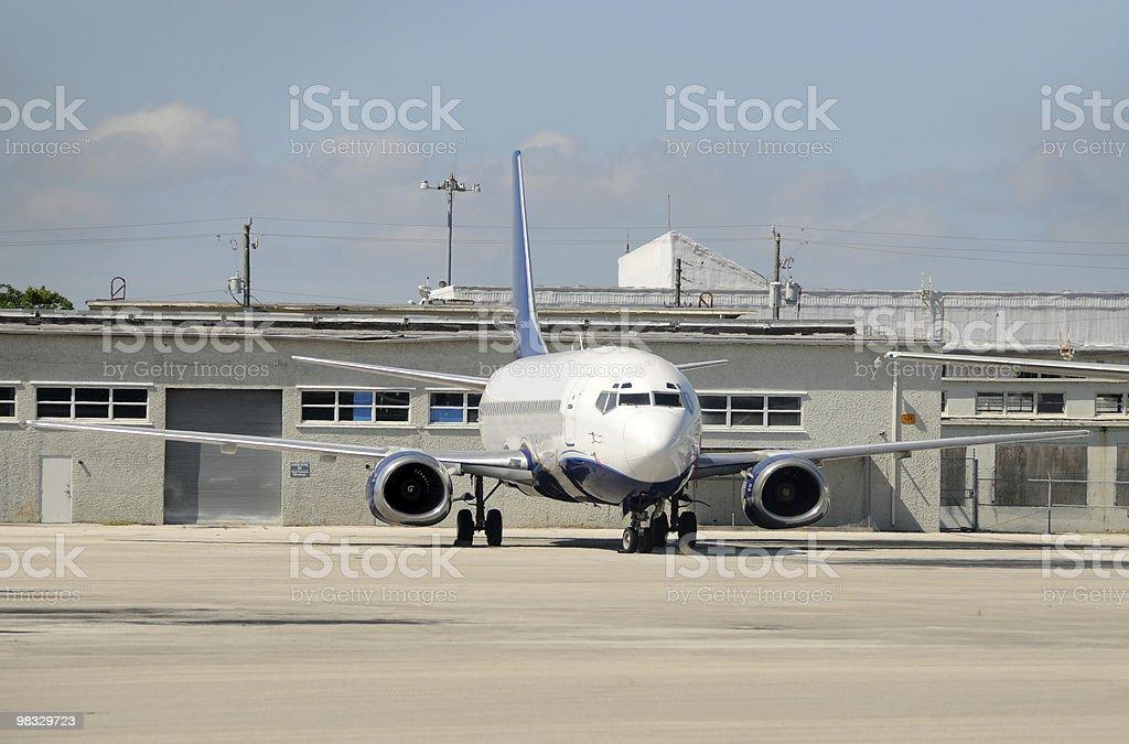 Passenger jet royalty-free stock photo