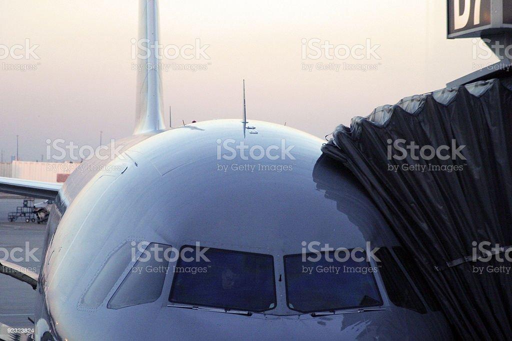 Passenger jet plane royalty-free stock photo
