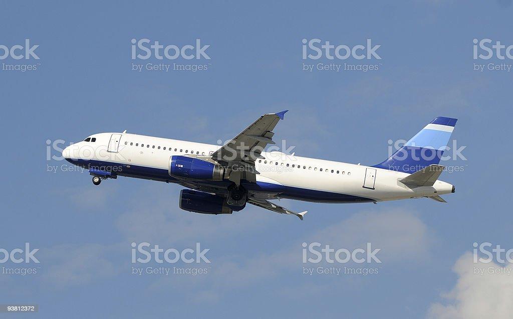 Passenger jetliner stock photo