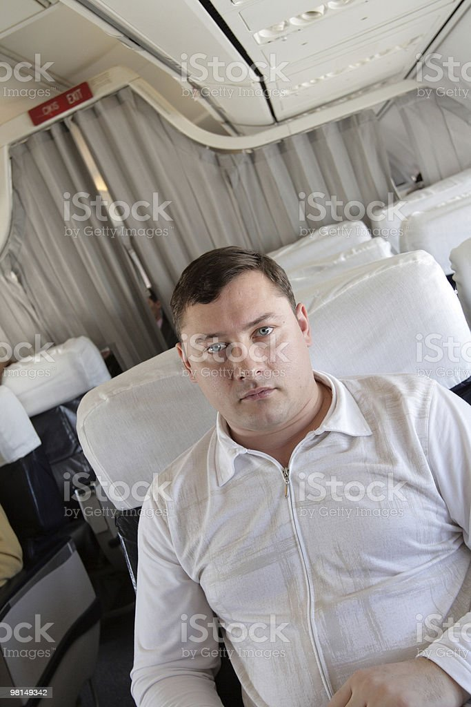 Passenger on the flight royalty-free stock photo