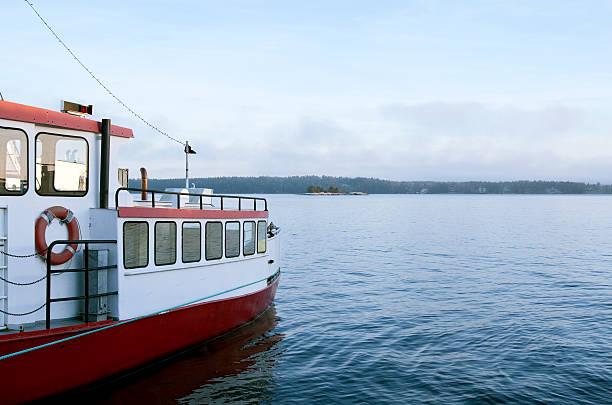 passenger ship on water - ferry lake sweden bildbanksfoton och bilder