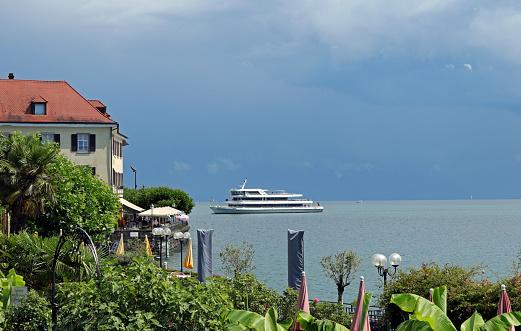 Meersburg, Germany - July 14, 2017: Passenger ship \