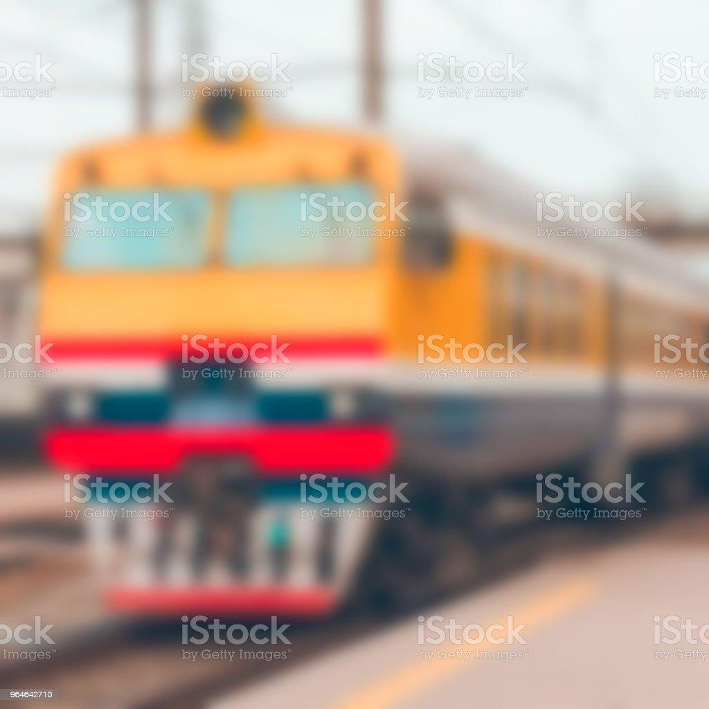 Passenger train - blurred image royalty-free stock photo
