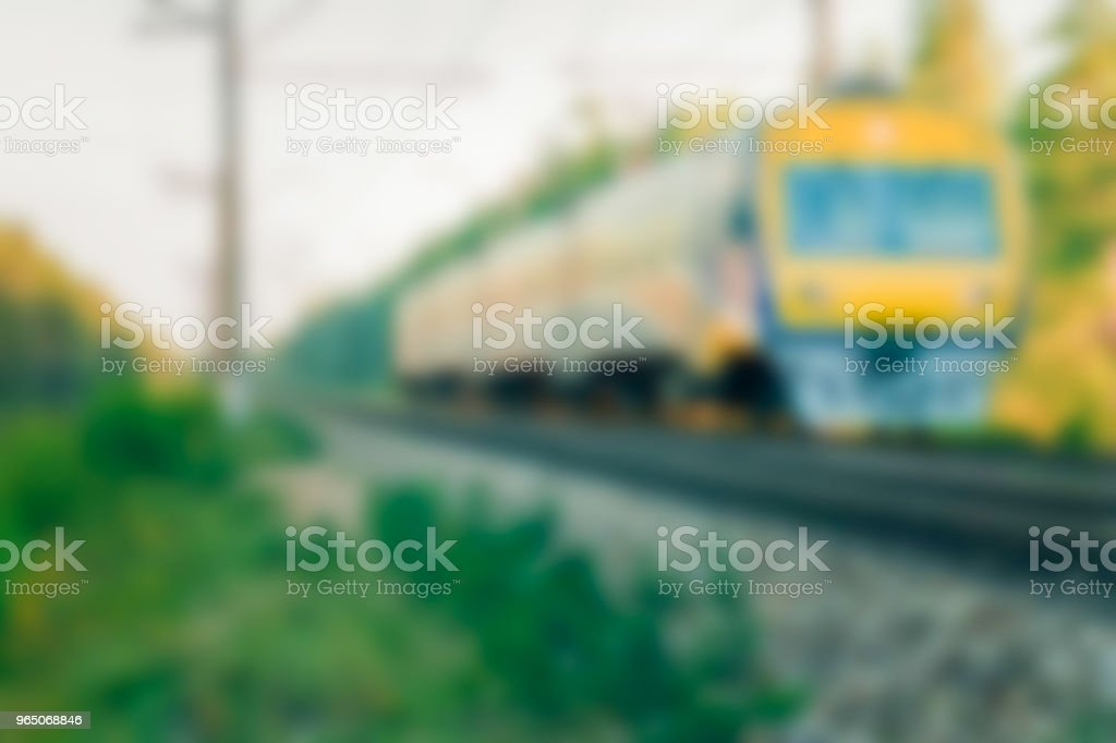Passenger train - blurred image royalty-free stock photo