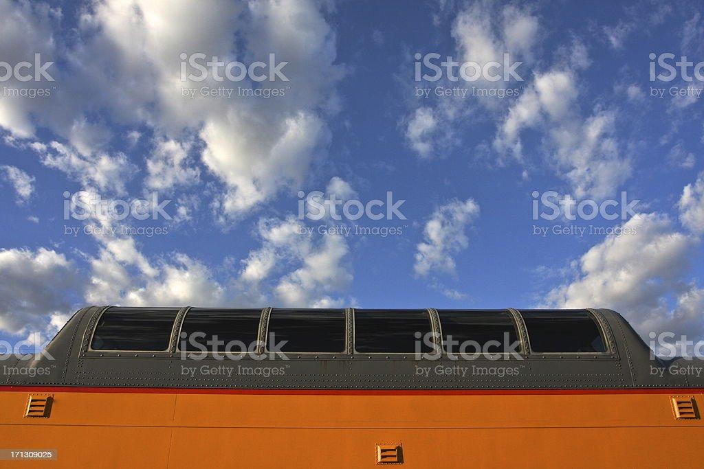 Passenger Train Dome Car royalty-free stock photo