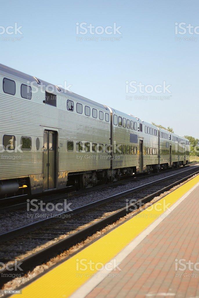 Passenger train stock photo