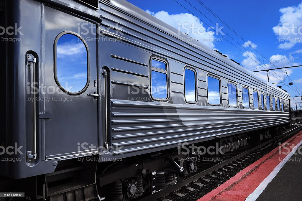 Passenger train wagon stock photo