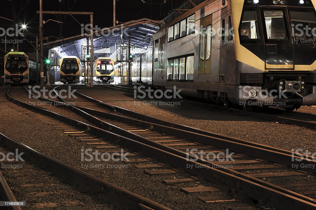 Passenger trains royalty-free stock photo