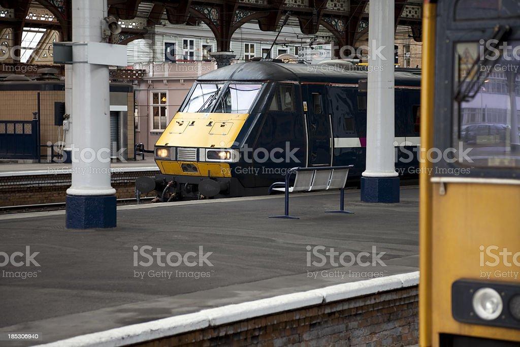 Passenger trains royalty-free stock photo