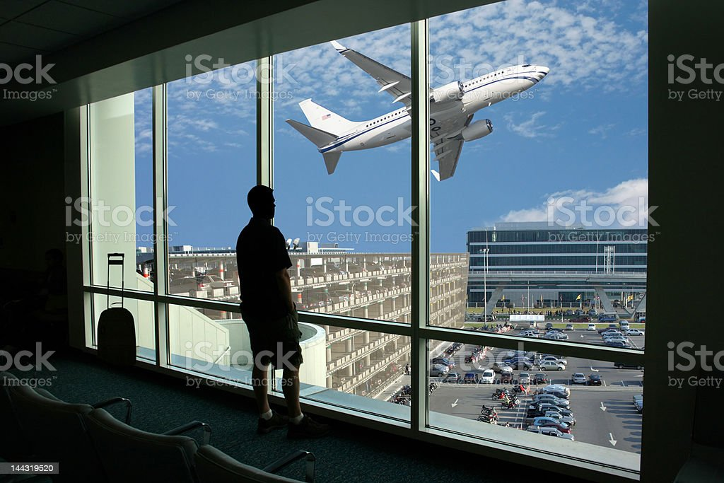 Passenger waiting for the flight royalty-free stock photo