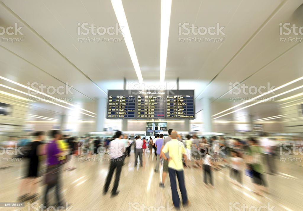 Passengers in the Airport stock photo