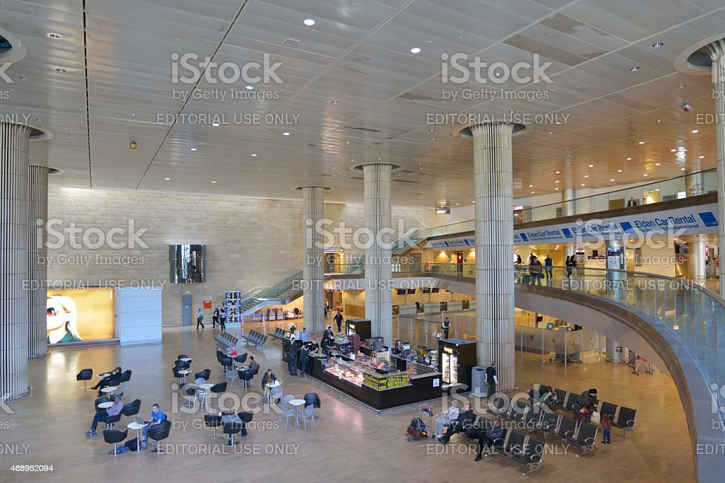 Passengers In The Ben Gurion Airport Tel Aviv Israel Stock Photo