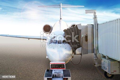 186763256 istock photo Passengers loading onto airplane 465679068