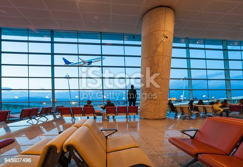 494216846 istock photo Passengers waiting for flight 945607496