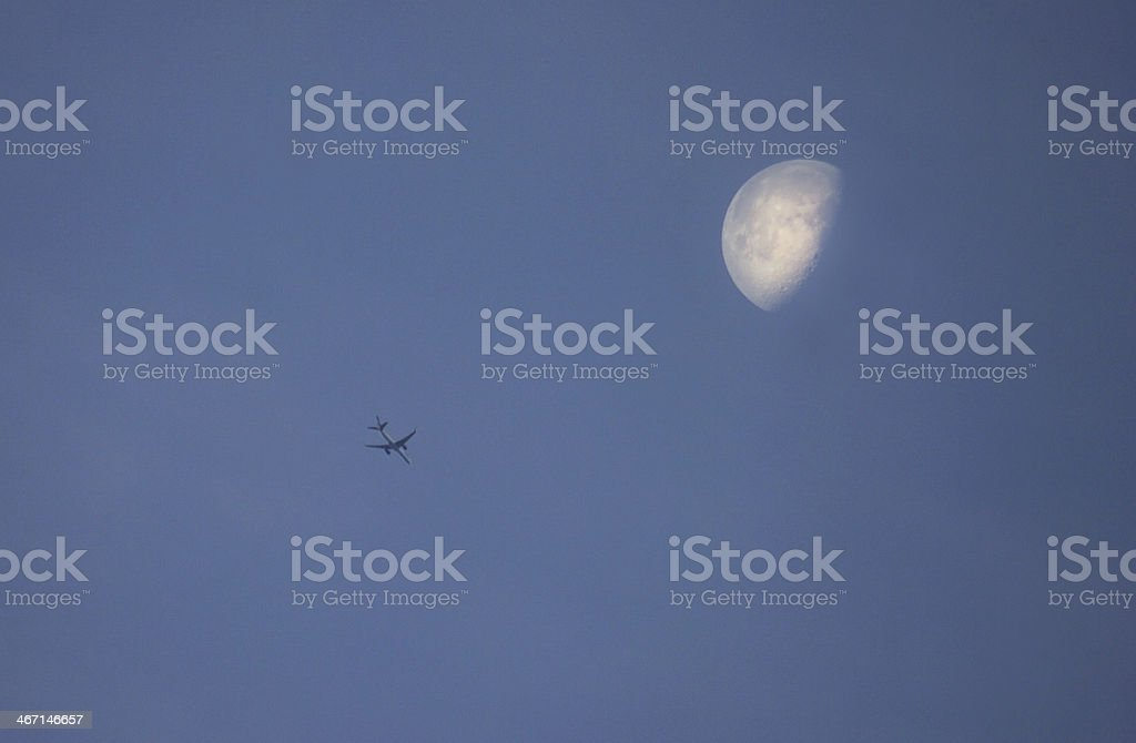 Passing airplane royalty-free stock photo