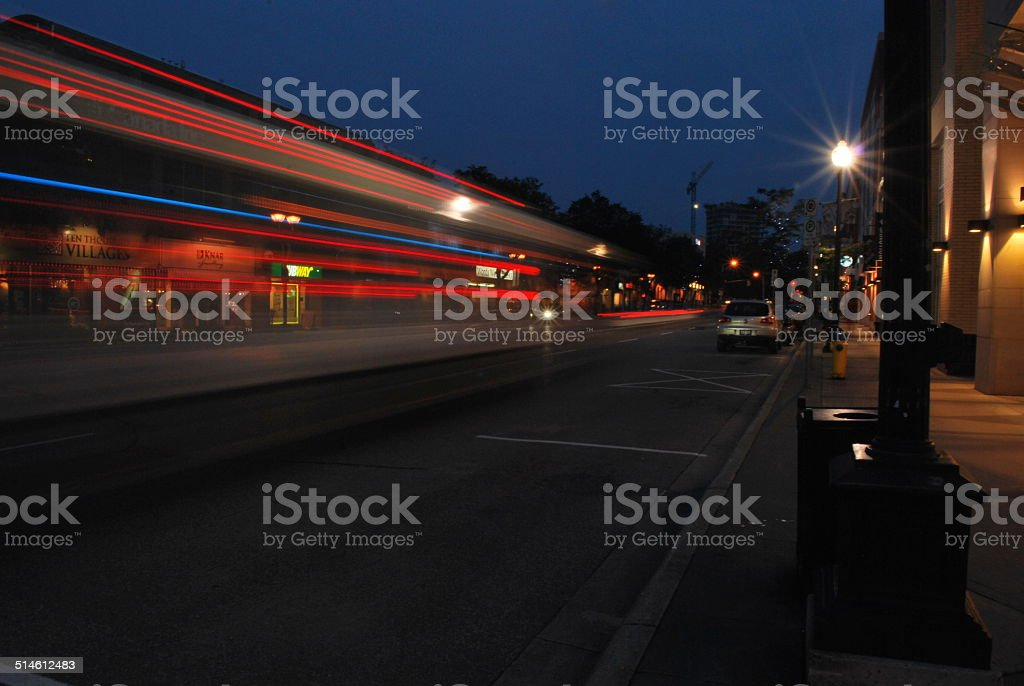 Passing Bus stock photo