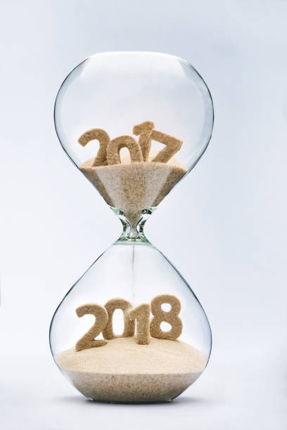 Passing into New Year 2018 stock photo