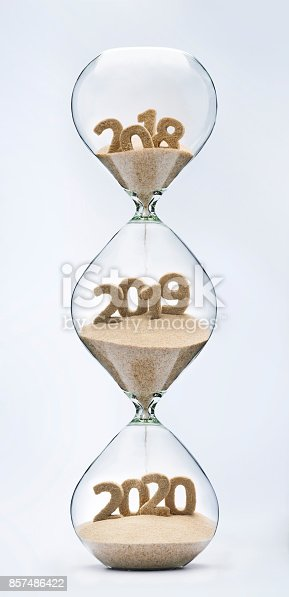 istock Passing into New Year 2019, 2020 857486422