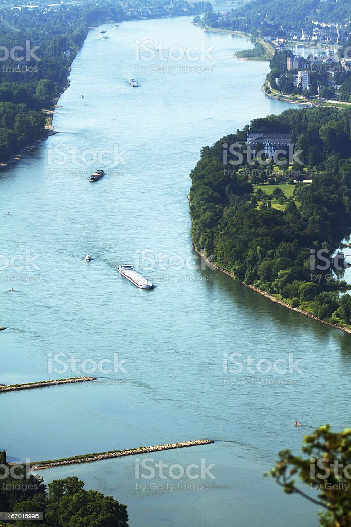 Passing Nonnenwerth royalty-free stock photo