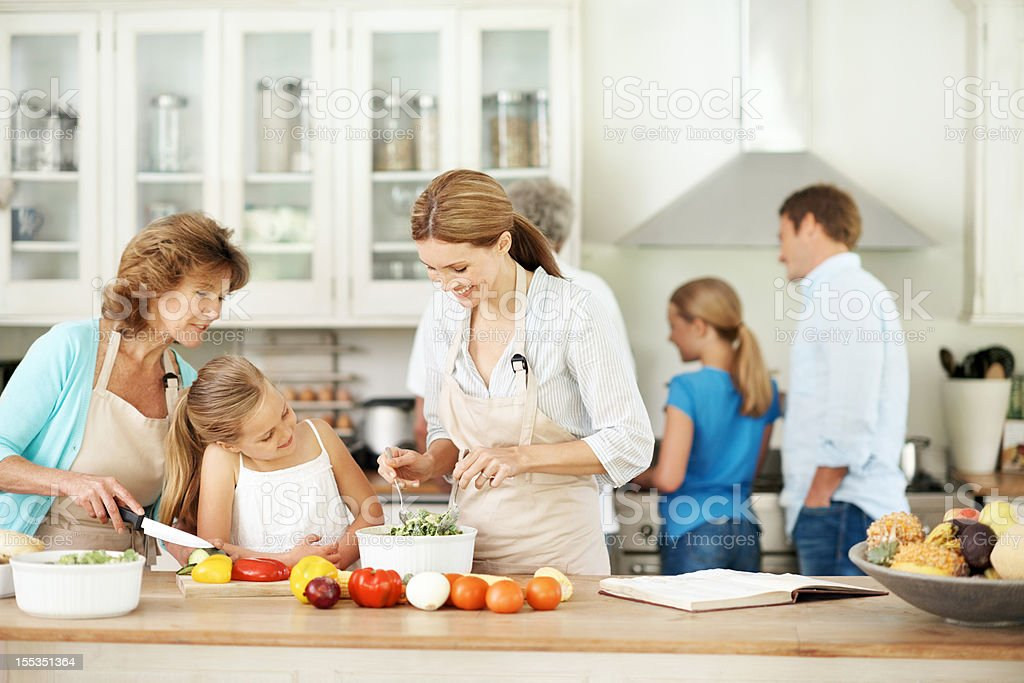 Passing on family recipes royalty-free stock photo