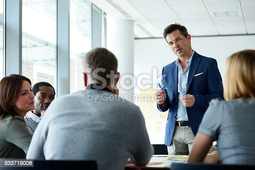 istock Passing on his expertise to the team 533719008