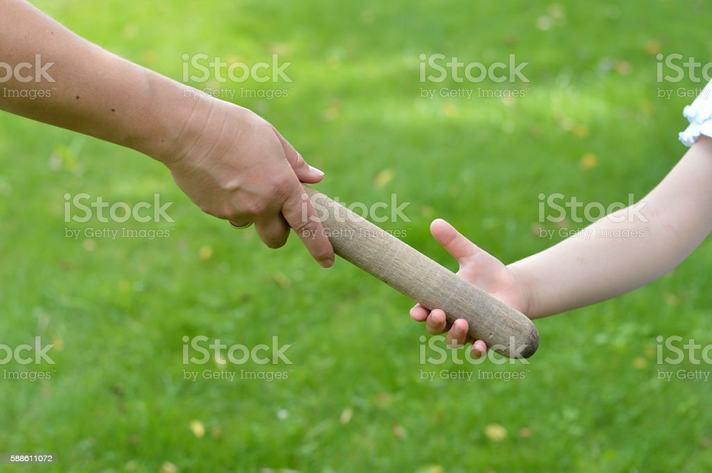 passing on to the next generation stock photo