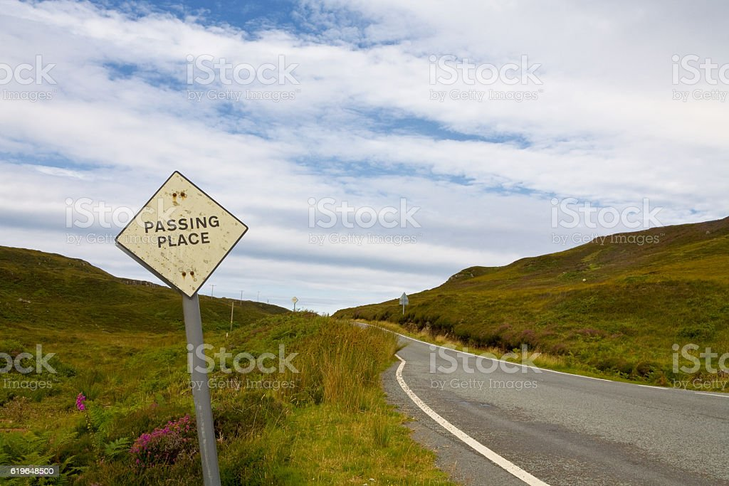 Passing place stock photo