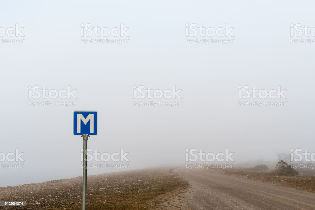 Passing place road sign stock photo
