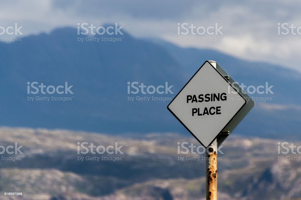 Passing place sign stock photo