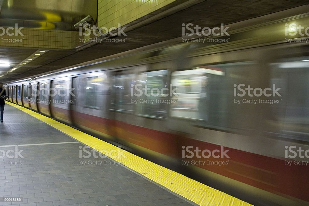 Passing Subway Train royalty-free stock photo