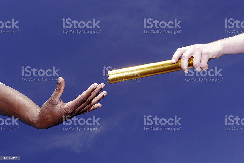 Passing the baton royalty-free stock photo