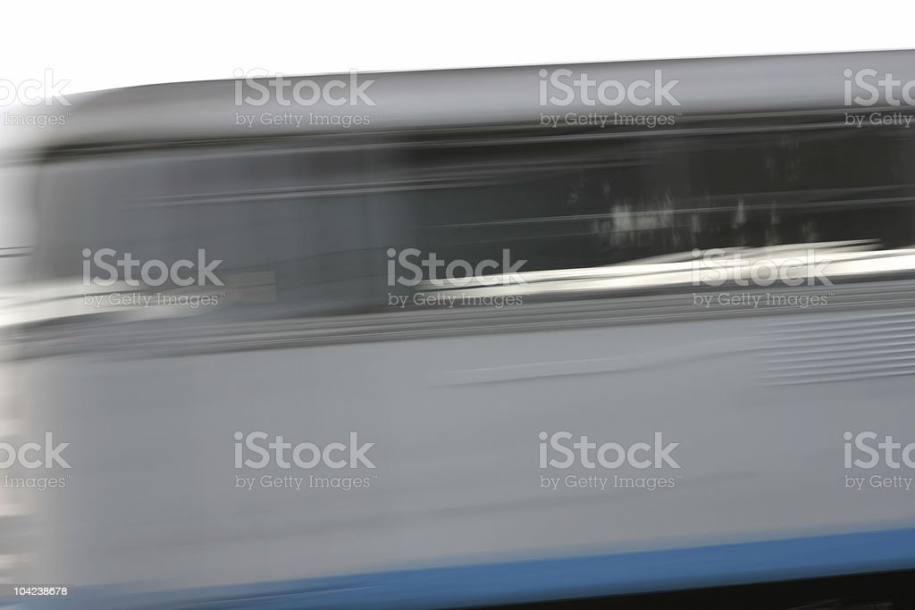 Passing Train royalty-free stock photo