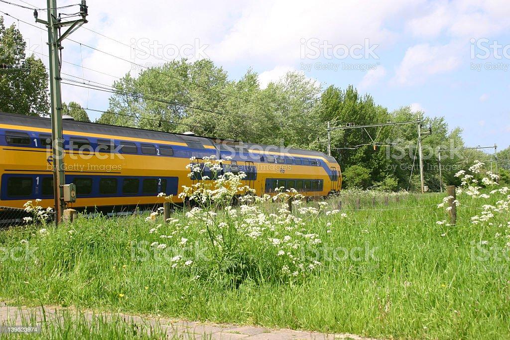 passing train royalty-free stock photo