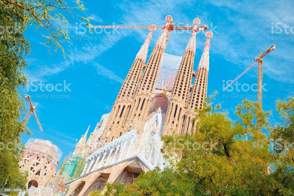 Passion Facade of the Sagrada Família stock photo