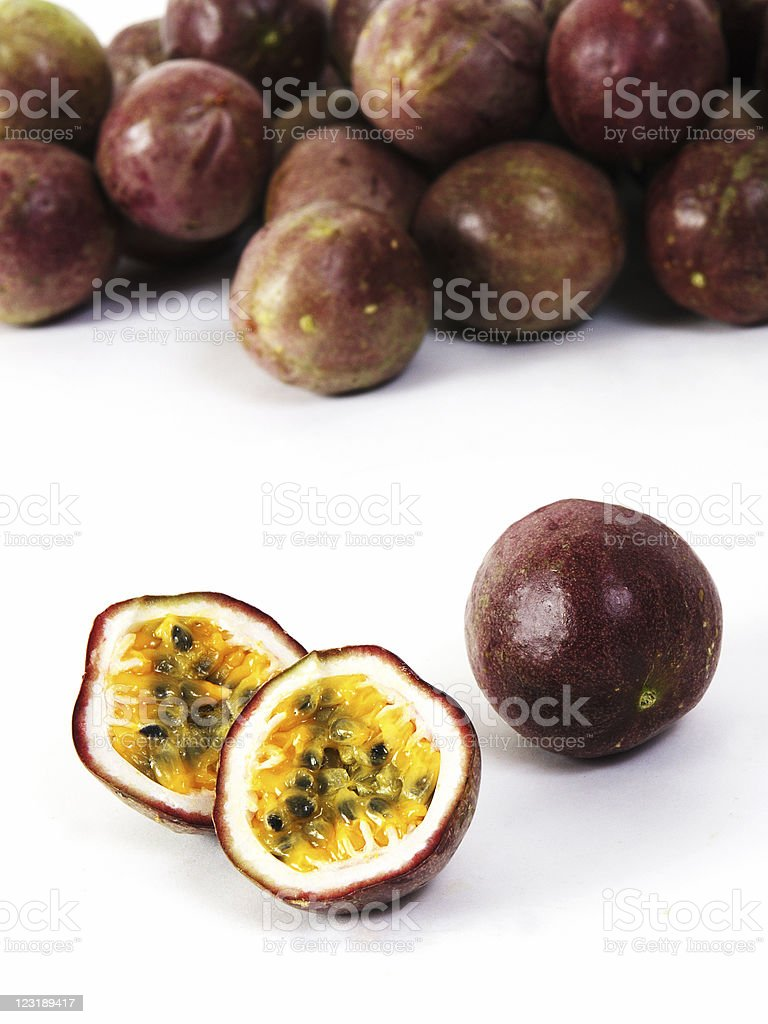 Passion Fruit Isolated On White royalty-free stock photo