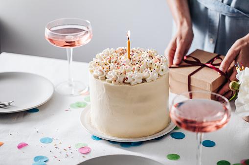 Passion fruit layered birthday cake