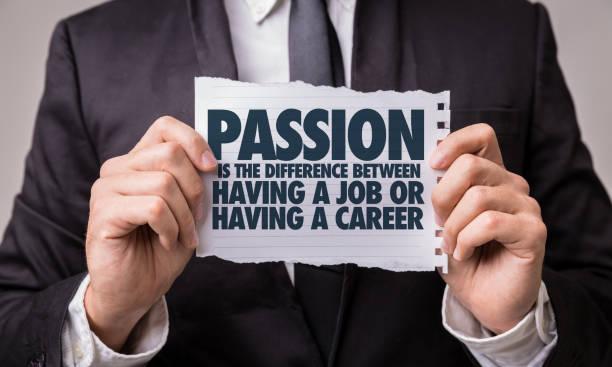 leidenschaft ist der unterschied zwischen einen job oder eine karriere - danke an lehrerin stock-fotos und bilder