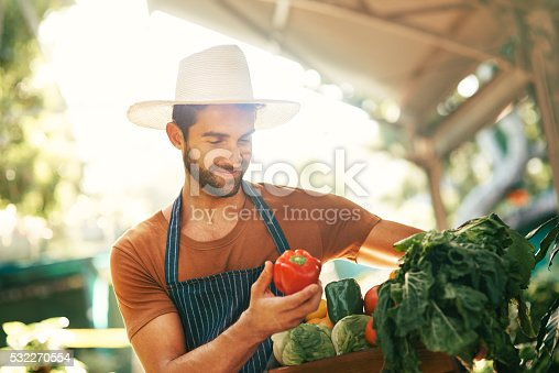 istock Passionate about about his fresh produce 532270554