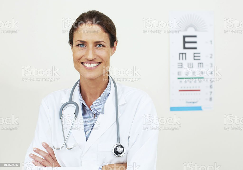 Passionate about eye care royalty-free stock photo