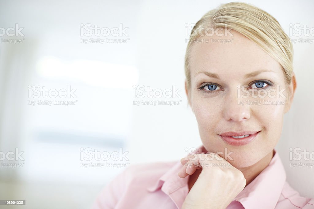 Passionate about her work royalty-free stock photo