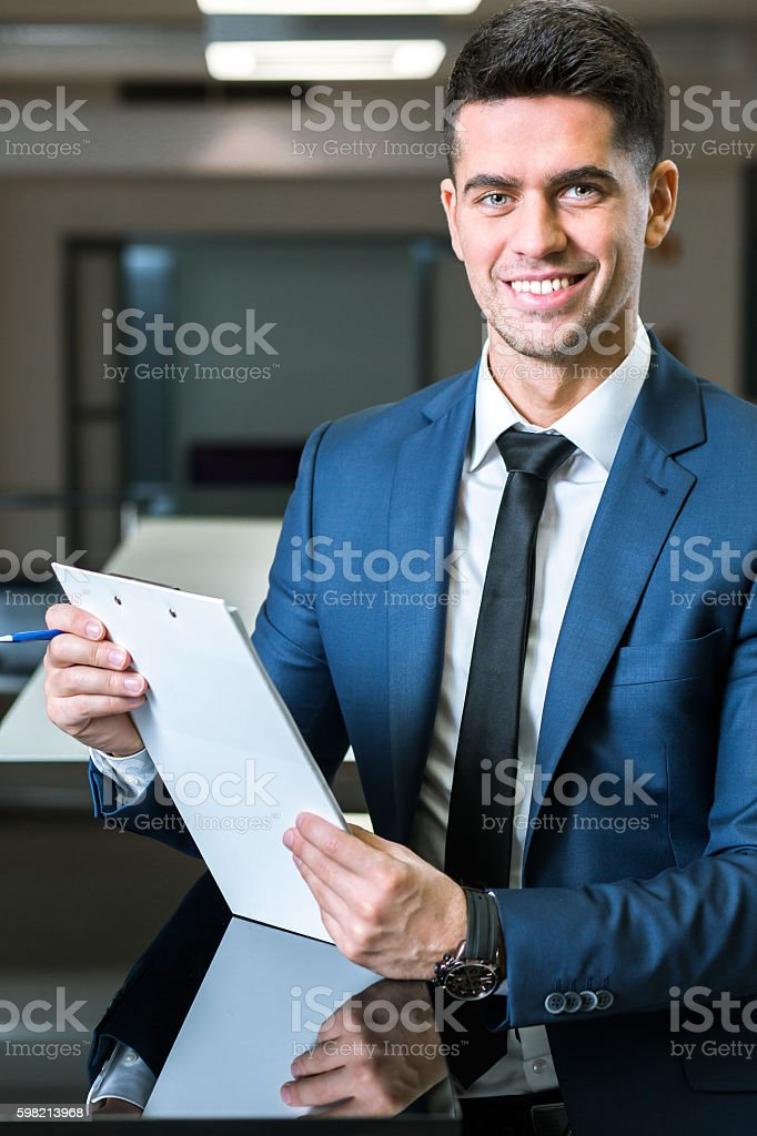 Passionate about his work stock photo