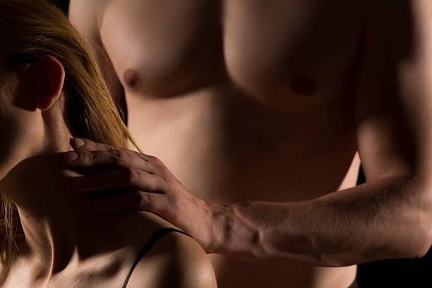 passionate and sensual - tantra massage stock-fotos und bilder