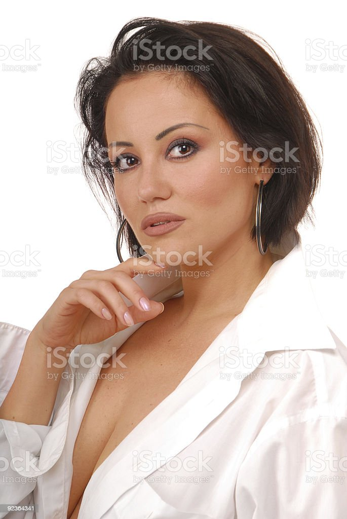 passionate brunette royalty-free stock photo