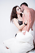 istock Passionate Couple on the Bed 157648974