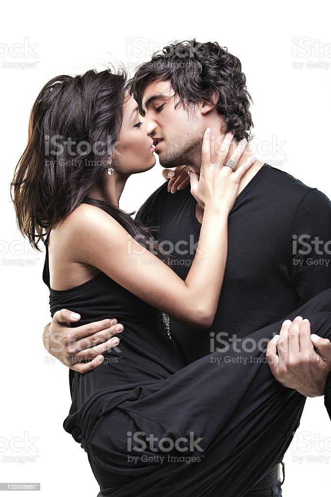 Passionate couple (Black shoot) royalty-free stock photo