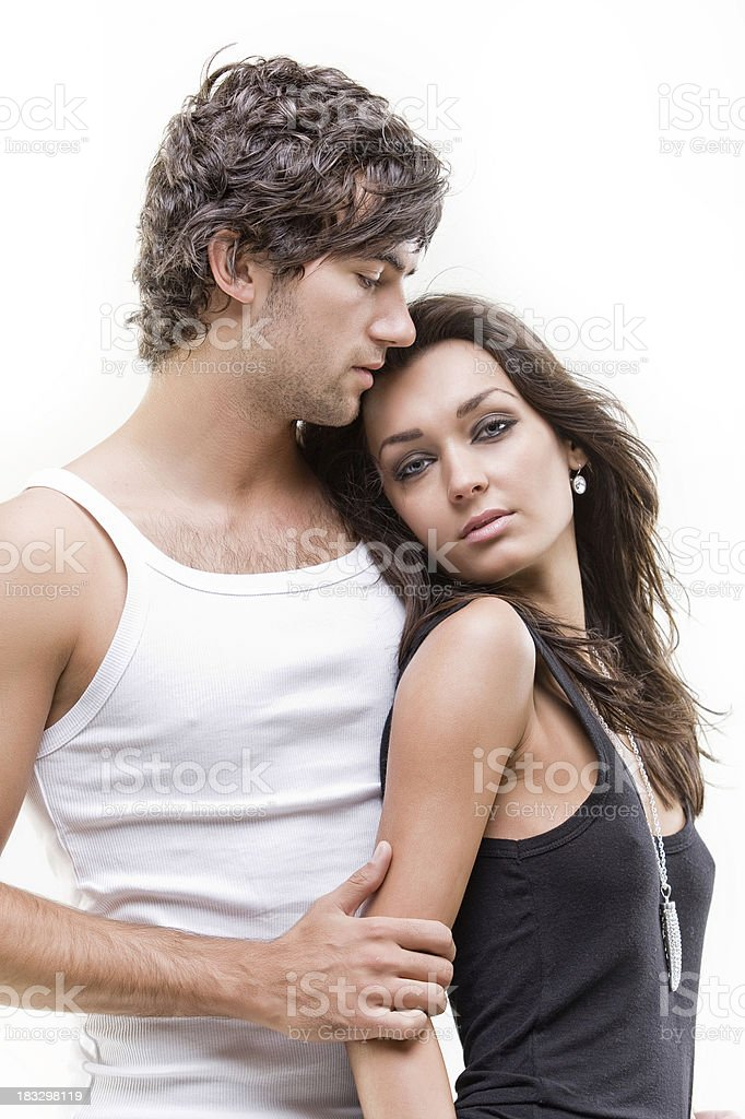 Passionate couple (Black and white shoot) royalty-free stock photo