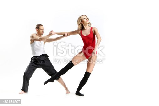 istock Passionate dance of two people 460131207