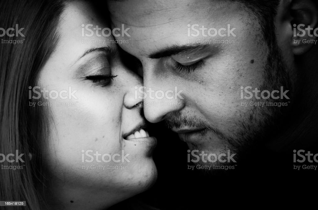 Passionate Kiss Love Concept royalty-free stock photo