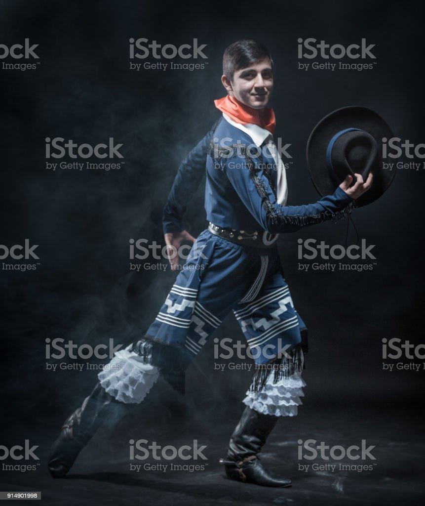 Passionate Male Dancer stock photo